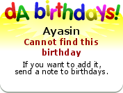 Birthdays badge example!