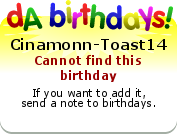Birthdays badge example!
