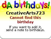 My birthday badge