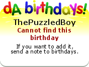 ThePuzzledBoy's birthday badge
