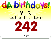 V--R's Birthday Badge.